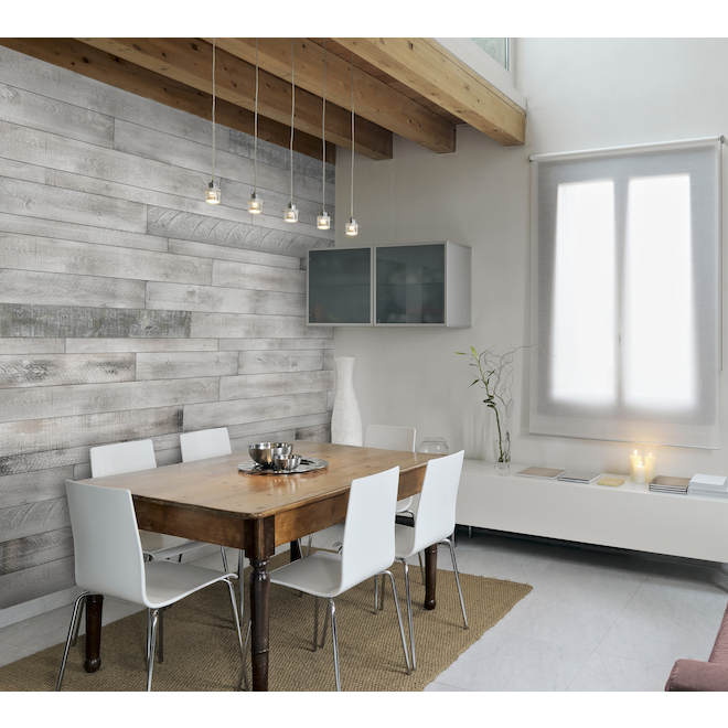 Pine Wood Panelling with Square Ends - 5-in x 48-in - 20 sq. ft. - White