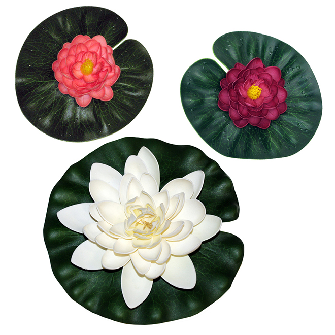 Floating Lily Pad for Artificial Pond - Assorted - 3/PK