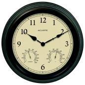Horloge avec thermomètre et hygromètre intégrés, 15