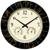 Clock with Encased Thermometer and Hygrometer - 14