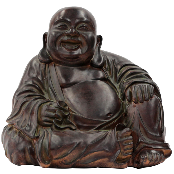 "Faux-Stone Buddha Statue - 11-3/4"" - Brown"