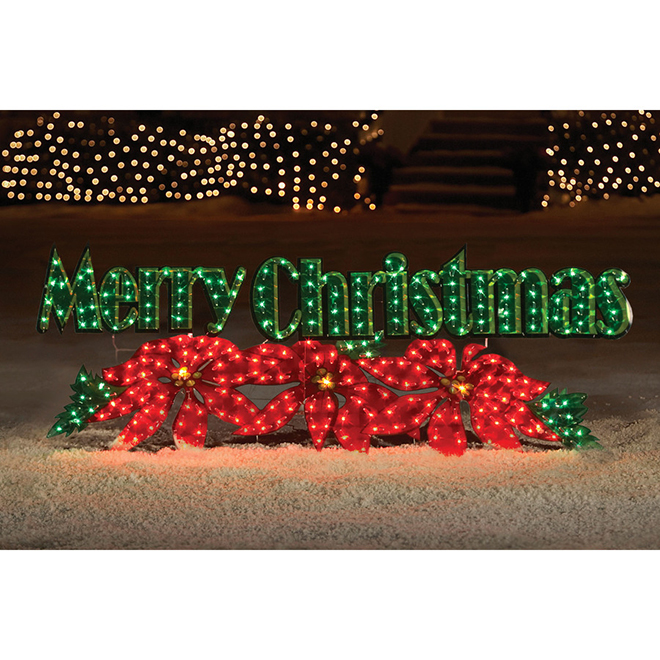 """Merry Christmas"" Lighted Sign - 28"" - 250 lights"