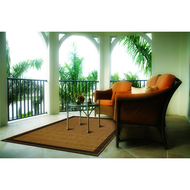 Outdoor/Indoor Area Rug New Haven - 5' x 7' - Brown/Black
