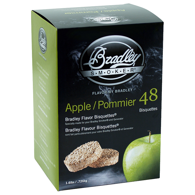 Bradley Wood Briquettes for Smoker - Applewood - 48/Pack