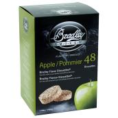 Wood Briquettes for Smoker - Applewood - 48-Pack