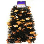 Ghosts Garland - 9' - PVC - Black and Orange