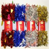 Tinsel Garland - Assorted - 9'