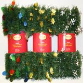Guirlande de pin avec pastilles décoratives, 12', assorti