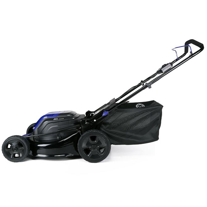 "3-in-1 Cordless Push Lawn Mower - 80V - 21"" - Blue/Black"