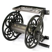 Decorative Wall-Mounted Hose Reel - 125' Capacity - Brown