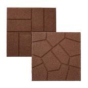 Pavé Rubberific réversible en caoutchouc, 16 po x 16 po, brun