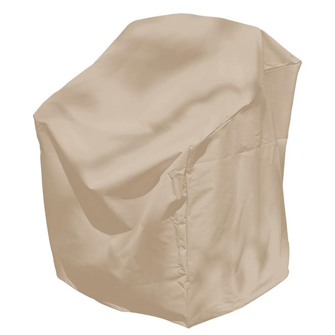 Housse pour fauteuil de patio, 33 x 33 x 28 po, beige