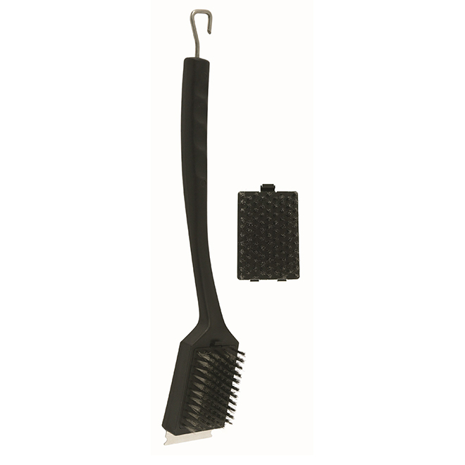 Bristle Grill Brush - 4 in x 20 in - Stainless Steel
