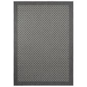 Allen + Roth Exterior Area Rug - Diamond Pattern - 5' x 7' - Polypropylene - Grey