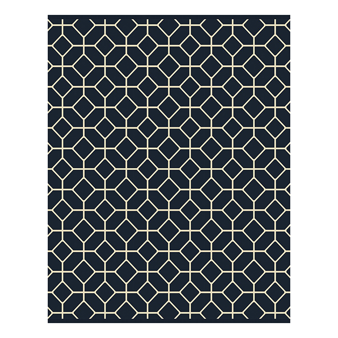Outdoor/Indoor Area - 8' x 10' - Navy Geometric