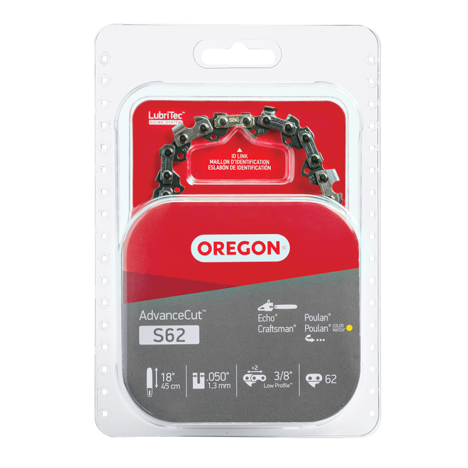 Oregon S62 AdvanceCut(TM) 18-in Chainsaw Chain - 3/8-in Chain Pitch