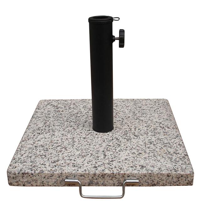 "Granite Square Umbrella Base - 17"" - Beige/Gold"