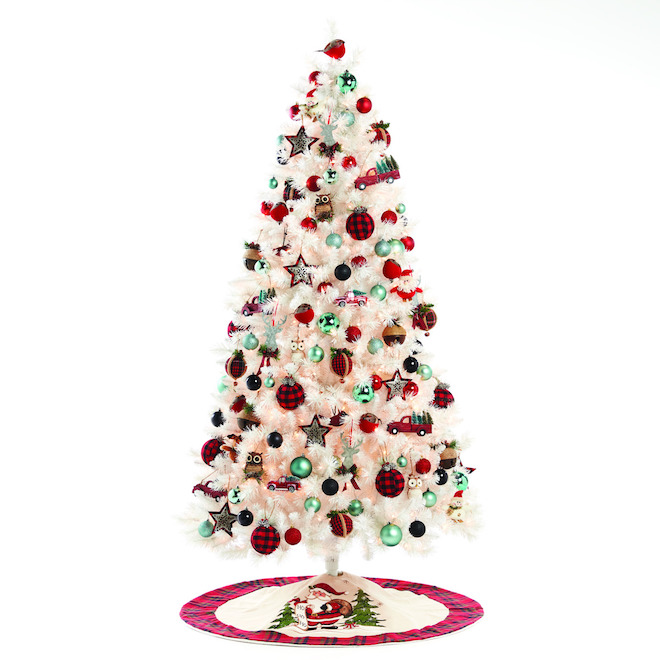 Holiday Living Jeffrey Prelit 7-ft Christmas Tree - 650 Clear Lights - 1159 Tips - White