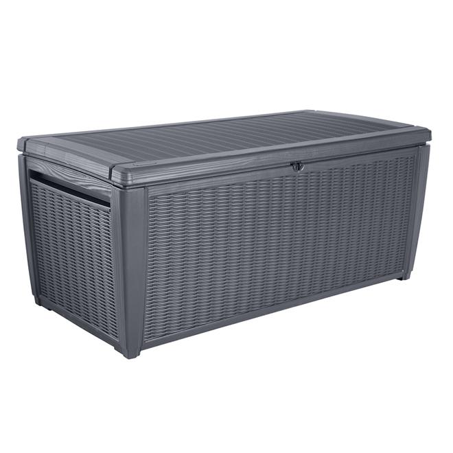 Keter Wicker Deck Box - 135 gal. - Anthracite Grey