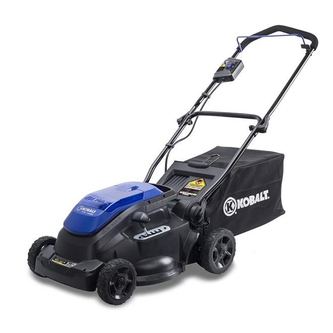 "2-in-1 Cordless Push Lawn Mower - 40V - 16"" - Blue/Black"