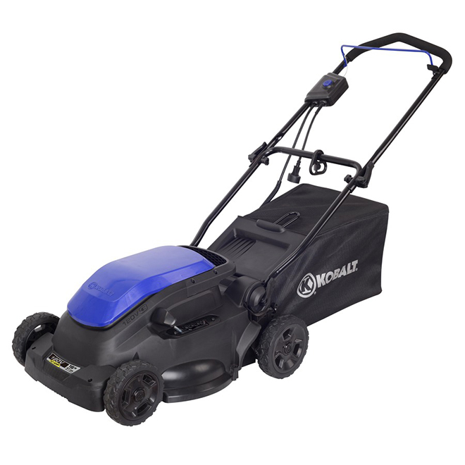 Kobalt Electric Lawnmower - 10 A - 16-in - Blue and Black