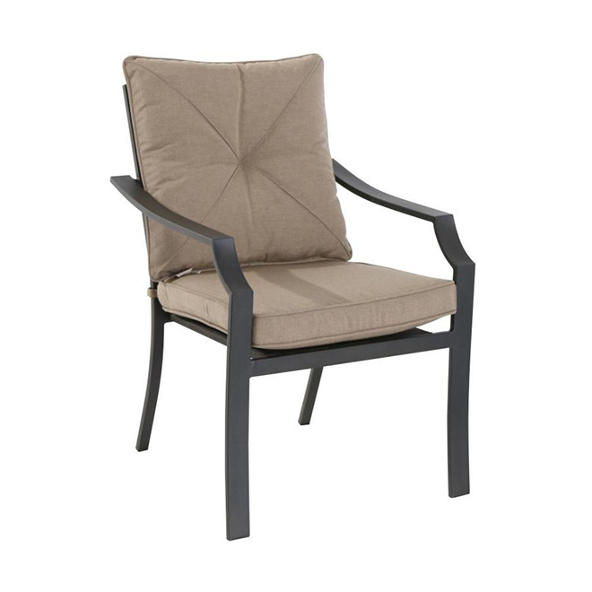 Styles Selections Vinehaven Patio Chairs - Set of 4 - Brown and Beige