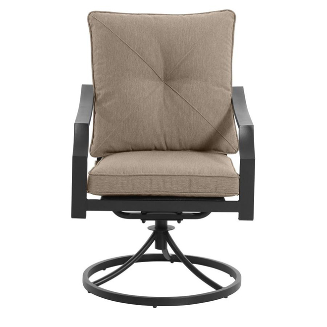 Styles Selections Vinehaven Swivel Patio Dining Chair - 2 Pieces - Brown