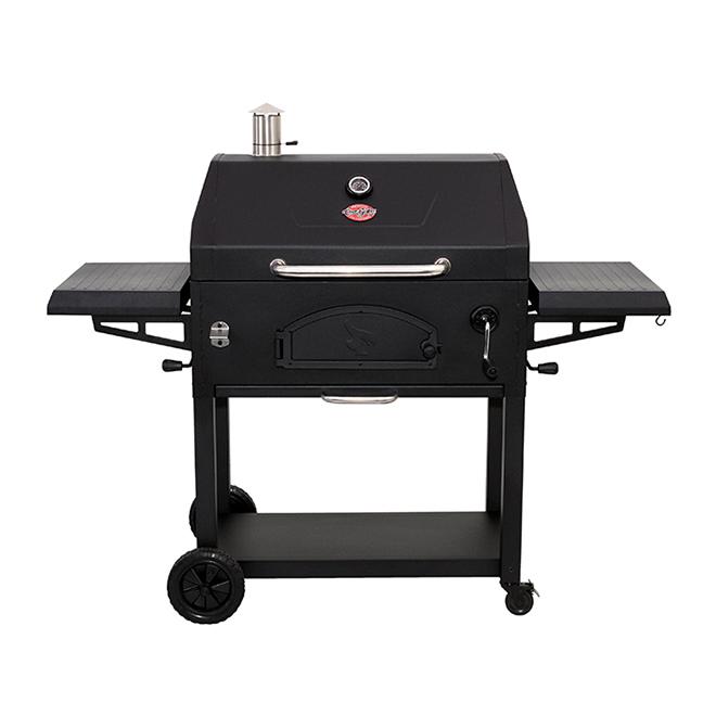 Barbecue au charbon de bois, 870 po², 61 po, noir