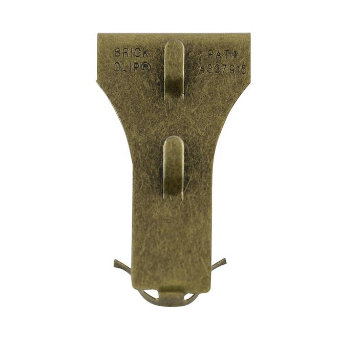Crochet décoratif pour brique, laiton
