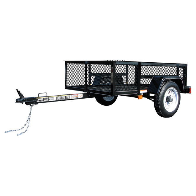 Trailer with Removable Rear Panel - Black - 3 1/2' x 5'