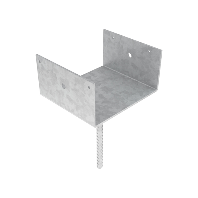 "Elevated Post Base - Steel - 6"" X 6"""