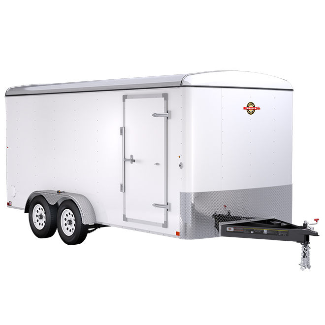 Carry-On Trailer - Enclosed with Ramp - 7' x 16' - White