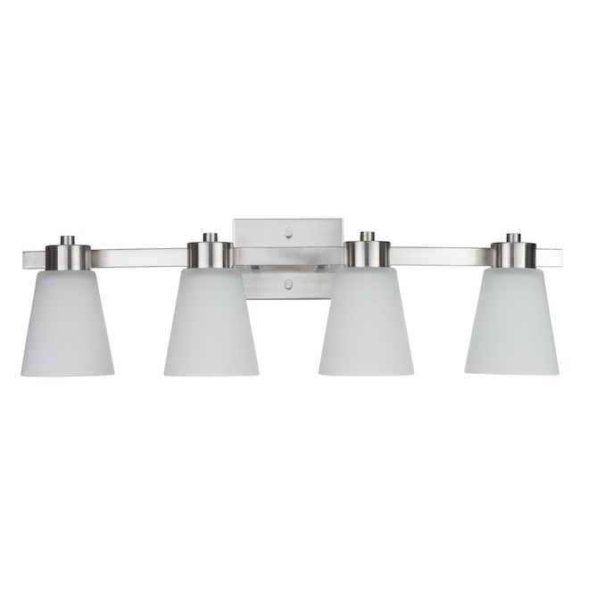Project Source Vanity Light - 4 Lights - 60 W - Brushed Nickel