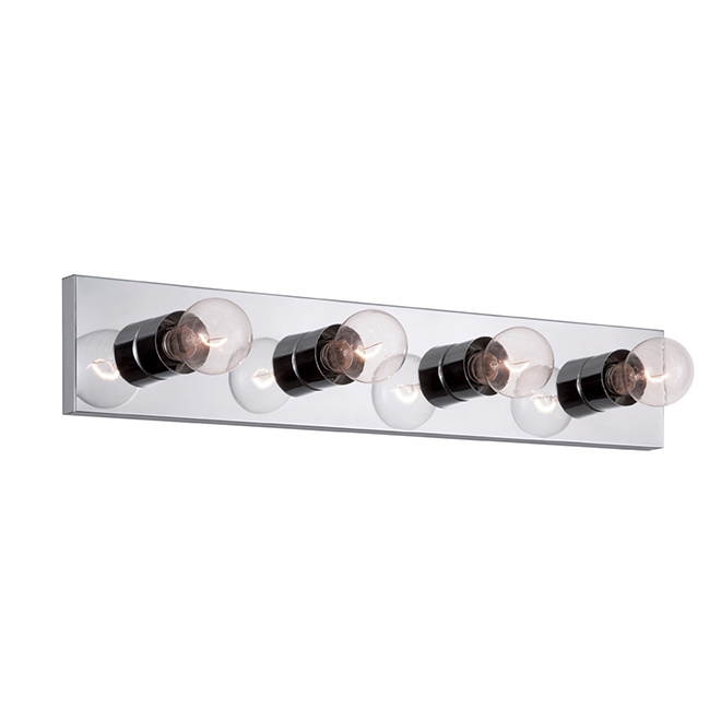 Wall Sconce for Vanity - 24'' - 4  Lights - Chrome