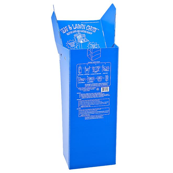 "Corrugated Plastic Leaf Chute - 46"" x 16 3/4"" - Blue"