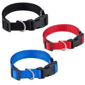 Seal Adjustable Dog Collar - Large - Assorted