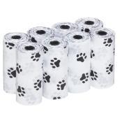 Sac à excréments en plastique pour chiens - 8 rouleaux