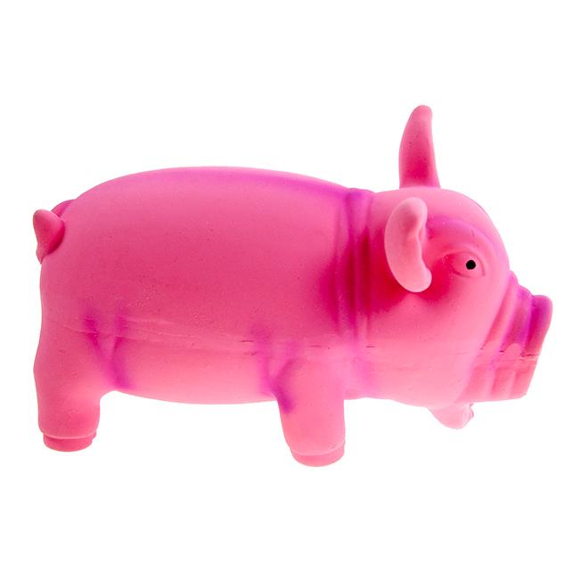 Jouet cochon, 15 cm x 8 cm, rose