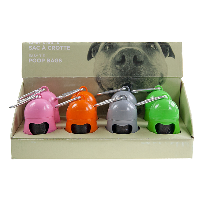 Dog Bag Dispenser with Roll - Assorted