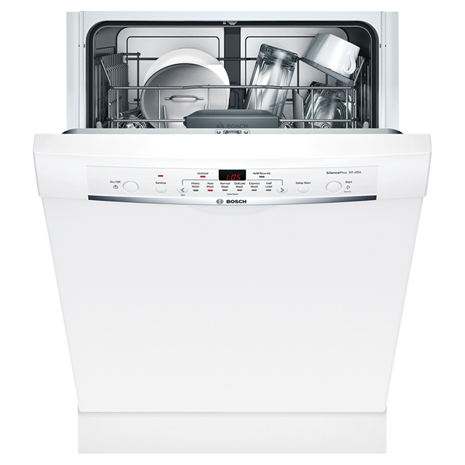 "24"" Ascenta Dishwasher with Recessed Handle - White"