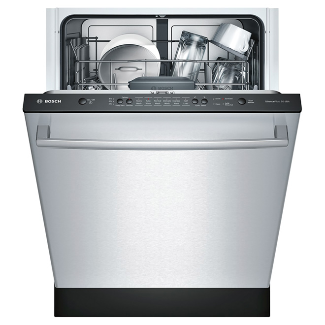 "Slide-in Dishwasher with Bar Handle - 24"" - Stainless"