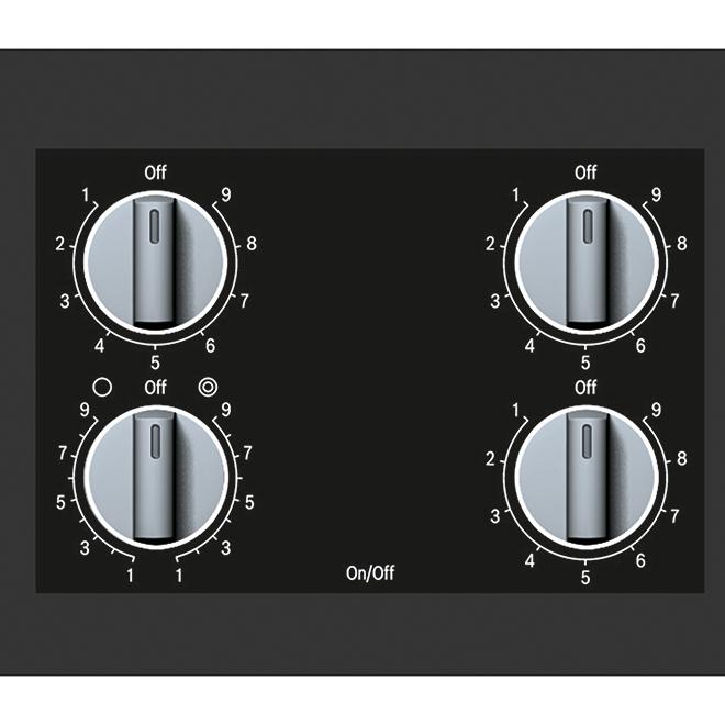 """Surface de cuisson électrique Bosch, Série 500, 30"""", inox"""