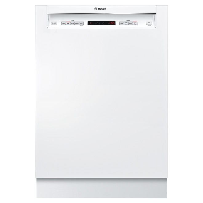 "Quiet Dishwasher with 3 racks - 24"" - White"