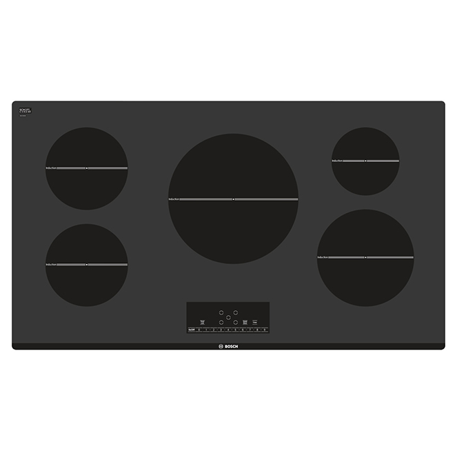 "37"" Induction Built-in Cooktop - Black"