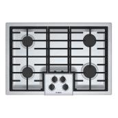 "Bosch Gas Cooktop - 4 Burners - 30"" - Stainless Steel"