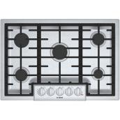 "Gas Cooktop - 800 Series - 30"" - Stainless Steel"