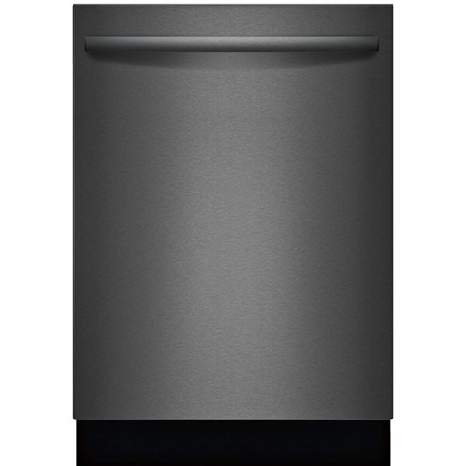 "Bosch 100 Series Built-In Dishwasher - 24"" - Black Stainless"