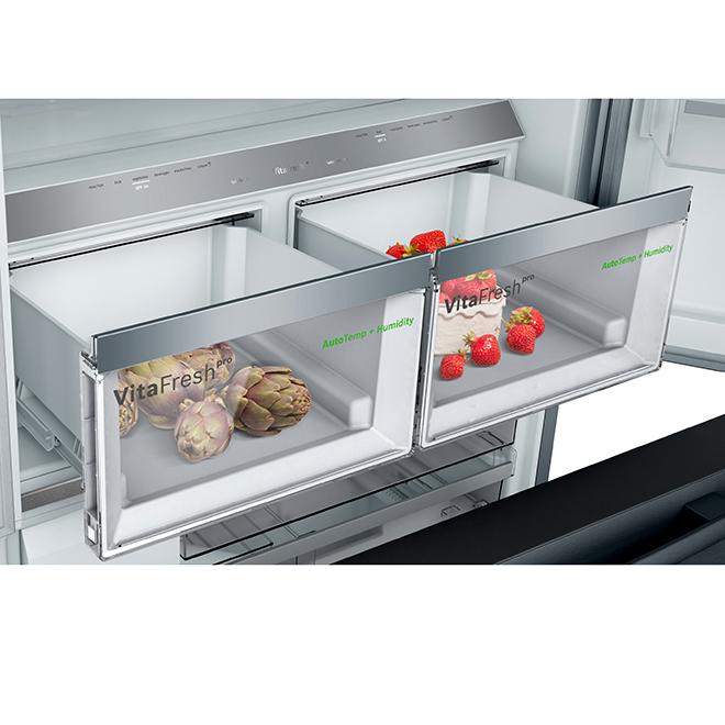 Réfrigérateur avec système FarmFresh(MC), 21 pi³, inox noir