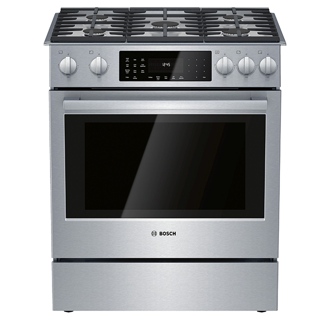 "Bosch Dual-Fuel Range with Convection - 30"" - 4.8 cu. ft. - SS"