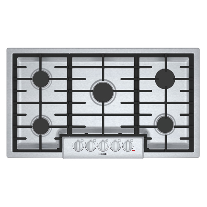 """Surface de cuisson au gaz, 5 brûleurs, 37"""", inox"""